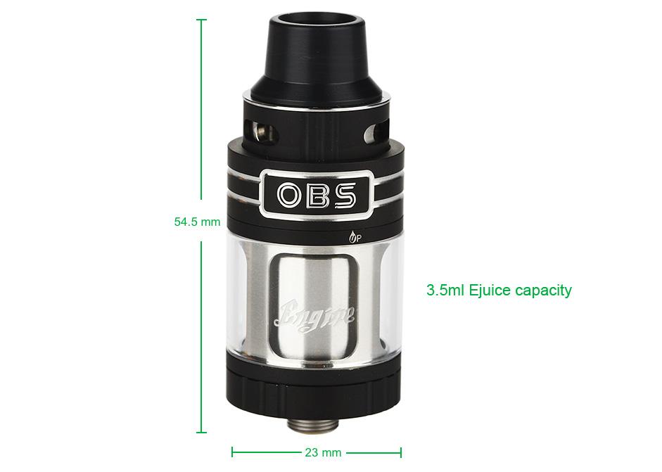 OBS Engine Mini RTA Tank - 3.5ml, Black
