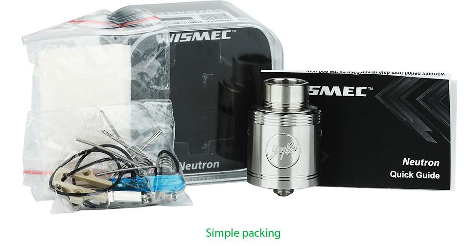 Wismec Neutron RDA Tank By Vapebazaar1