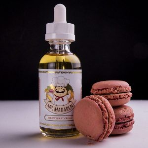 Mr-Macaron-Strawberry-Cream-Eliquid-By-Vapebazaar