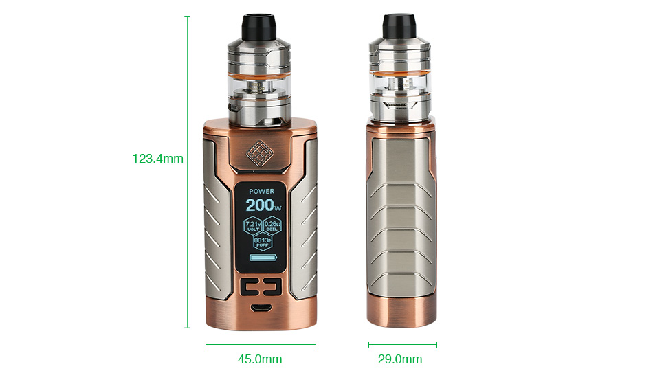 WISMEC SINUOUS FJ200 with Divider TC Kit 4600mAh