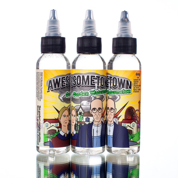 Garden Watermelon By Awesometown 60ml (3 , 6 mg) - Vape Bazaar