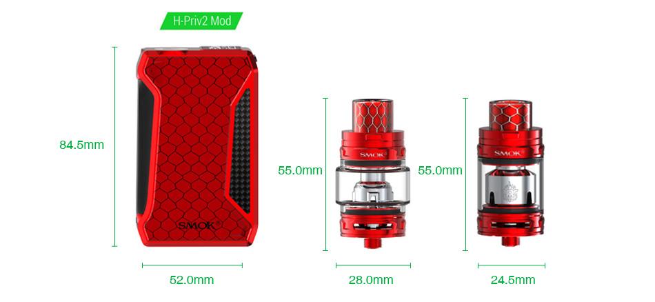 SMOK H-Priv 2 225W TC Kit with TFV12 Big Baby Prince
