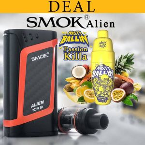 DEAL ! SMOK ALIEN 220w WITH NASTY BALLIN PASSION KILLA 60ml