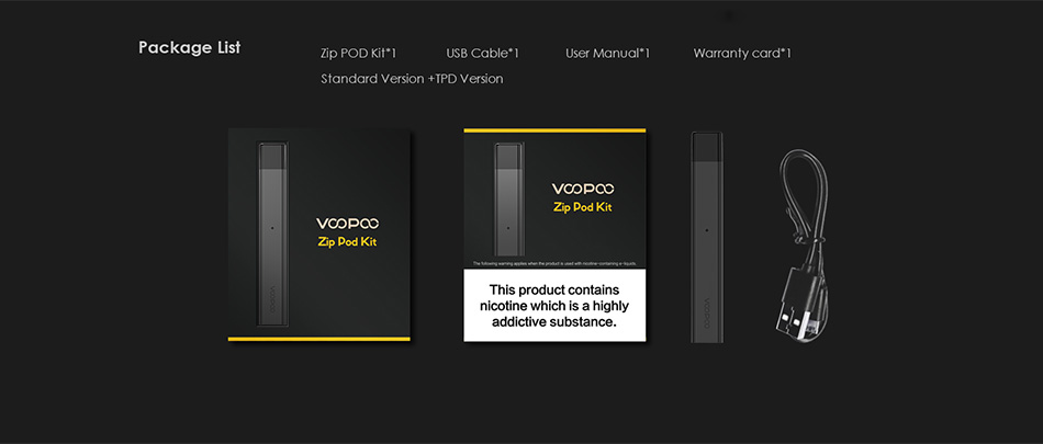 VOOPOO Alpha Zip Pod Kit 250mAh