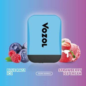 Vozol Blue Raz ice - Strawberry Ice Cream Disposable vape